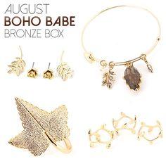 August Boho Babe Bronze Box