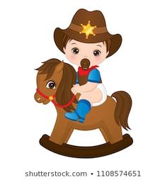 Vector cute little baby boy dressed as cowboy. Cowboy Baby, Cowboy Theme, Western Theme, Cute Little Baby, Little Babies, Little Boys, Cute Babies, Scrapbook Bebe, Baby Scrapbook Pages