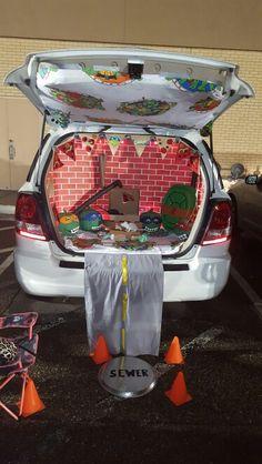 tmnt trunk or treat idea nailed it