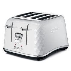 Peter's of Kensington | DeLonghi - Brillante White Toaster 4 Slice