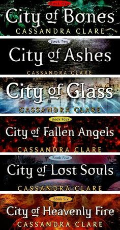 The Mortal Instruments by Cassandra Clare. <<<< favorite series next to divergent
