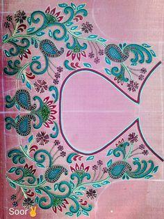 Wedding Saree Blouse Designs, Best Blouse Designs, Simple Blouse Designs, Stylish Blouse Design, Dress Neck Designs, Simple Embroidery Designs, Maggam Work Designs, Hand Embroidery Dress, Hand Work Blouse Design