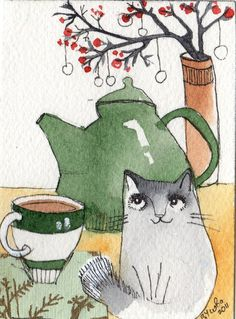 love cat artwork   ...........click here to find out more     http://googydog.com