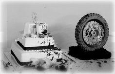 Moto wedding cake! Dirt bike theme!