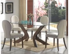Largest Dining tables collection  A bevelled edge lines the glass top  perimeter of the San Vicente Glass Top Rectangular Dining Table   Coaster  Co from the  Dining Room Table and Chairs modern dining tables   Ideas para la  . Glass Table For Dining Room. Home Design Ideas