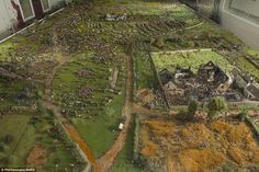 Repair: The diorama was in a poor condition before being restored ahead of the anniversary...