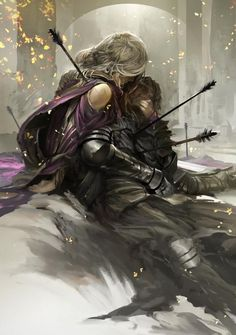 Couple in life, couple in death | Fantasy writing prompt | Character inspiration, scene setting idea | Arrows in battle | Trials and relics
