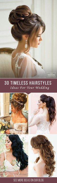 Bridal Hairstyles : 30 Timeless Bridal Hairstyles If youre still looking for a great hairstyl