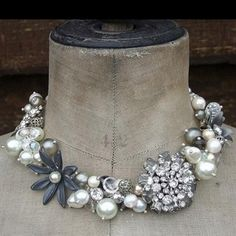 Repurposed. Necklace using vintage brooches