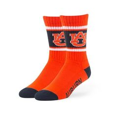 Auburn Tigers Socks Duster Crew Length Size Large NEW! 47 Brand