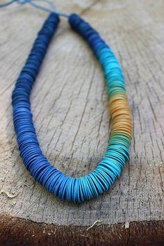 Náhrdelníky - náhrdelník modrá StoNožka - 6744745_