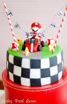 TOP 10 Kids Birthday Cakes Decoration Tutorials  Z-LOVE AND MARIO A MATCH FOR SURE