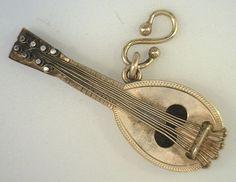 Victorian Era 14kt Gold Mandolin Charm