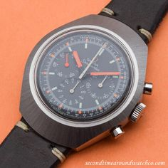 Wow! A 1970 Vintage Omega Seamaster Chronograph Ref. 145.024. This timepiece –…
