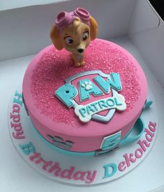"""58 Likes, 8 Comments - @cakefacecakes__ on Instagram: """"Another one of my popular girl themed paw patrol cakes  I hope Dekohda had a great party over the…"""""""