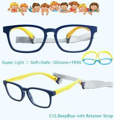 c0b2c93814 IVSTA with Strap 46-16 Kids Glasses for Children Eyeglasses Flexible TR90  Silicone Girls Optical