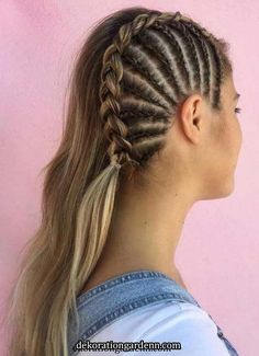 Fabulous Side Braids You Need to Sport in 2018 If you still can't find the perfect styles of wedding and bridal hairstyles to show off right now then you must visit here for sensational trends of braids for long hair in Frontal Hairstyles, Braided Hairstyles Updo, Straight Hairstyles, Cool Hairstyles, Bridal Hairstyles, Hairstyle Ideas, Braided Updo, Beyonce Hairstyles, Trending Hairstyles