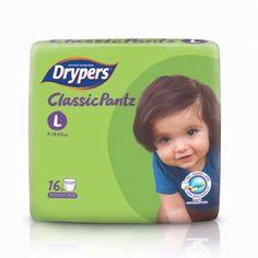 ซื้อเลย  Drypers ผ้าอ้อมสำหรับเด็ก รุ่น Classicpantz L 16 ชิ้น  ราคาเพียง  99 บาท  เท่านั้น คุณสมบัติ มีดังนี้ รู้สึกสบายตลอดทั้งวัน ช่วยระบายอากาศได้ 100% ขอบเอวยางยืดพิเศษ ป้องกันการซึมเปื้อน โอบแนบกระชับ