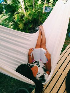Wanting to read in a hammock on some far away tropical island with hot men serving you drinks<3