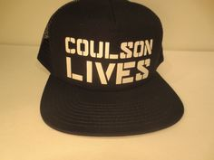 36c4a8cd6cf Marvel Comics Agents of Shield Coulson Lives Hat Cap Snapback Costume Hat   Marvel  BaseballCap
