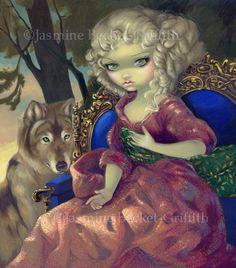 LoupGarou L'Aube french werewolf dawn fairy art by strangeling, $29.99