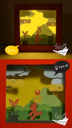Mario ShadowBox Night Light