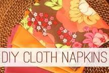 Image result for homemade cloth napkins