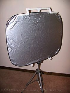 Studio Lighting - Cheap DIY Homemade Reflector Stand