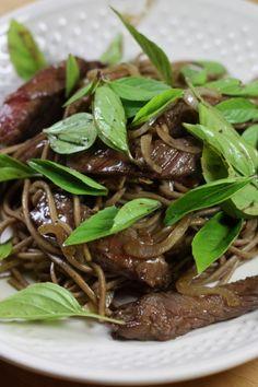 Wok de nouilles soba au boeuf pates 1 recettes viandes plats complets