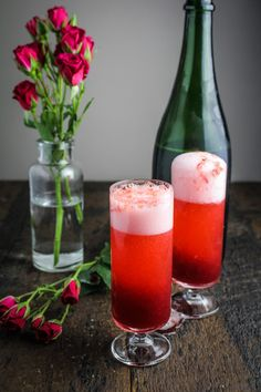 Blood Orange Mimosas {Katie at the Kitchen Door} #valentines