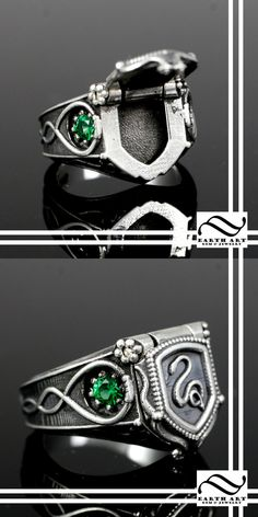 Harry Potter Slytherin House Poison ring by on DeviantArt Harry Potter Ring, Anillo Harry Potter, Harry Potter Schmuck, Bijoux Harry Potter, Objet Harry Potter, Cute Harry Potter, Harry Potter Outfits, Gems Jewelry, Cute Jewelry