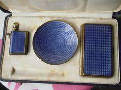Art deco lighter set, striker,ashtray cigarette case, | eBay