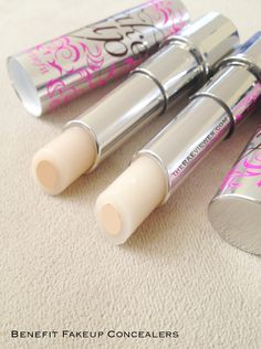 Benefit Concealer - Fakeup. Best under eye concealer yet! Hydrating so you don't have to worry about creasing or cake-ing, and covers imperfections and dark circles with ease