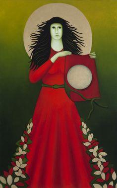 """De Vlijmense beeldend kunstenares Chrisje van der Heyden-Ronde schildert tijdloze kunst. Onderwerpen vanuit """"Brabantse bezieling"""" verwerkt zij in haar schilderijen, die ieder een eigen verhaal hebben. Het zijn stuk voor stuk schilderijen die iets weg hebben van de Vlaamse Primitieven, heel authentiek en zoals haar oud docent het omschrijft """"kunst met een gezicht""""."""