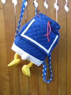 Donald Duck inspired back pack www.facebook.com/serendipidboutique