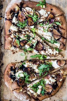 Whole Wheat Goat cheese fig arugula pizza | Eat Good 4 Life