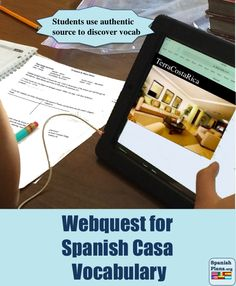 "Explore real houses from the Spanish Speaking world in this webquest designed to engage students in using context to discover vocabulary!  ""Easy to navigate webquest, students loved it!"""