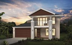 Metricon Home Designs: The Glendale - Coastal Facade. Visit www.localbuilders.com.au/builders_nsw.htm to find your ideal home design in New South Wales