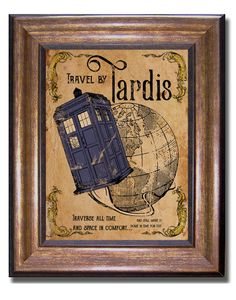 Doctor Who  Tardis Vintage Style Poster  by MyChildishThings