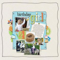 Girl Birthday Scrapbook Pages - Create a scrapbook page that's just as cute as the birthday girl with these creative ideas for scrapbooking birthday fun. More examples on this webpage