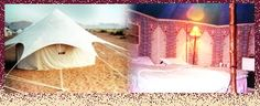 Indian desert tent - heavy duty water-repellent cotton canvas with printed sheeting inside