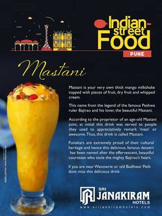 The punekars proud drink Mastani is the creamy mango milkshake with ice cream. Every scoop will give various blasts of taste and texture.   #srijanakiram #strretfood #Mastani #pune
