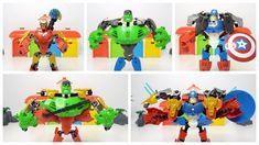 漫威英雄拼插玩具 绿巨人钢铁侠合体 美国队长钢铁侠合体 marvel bricks toy hulk ironman combine capta...