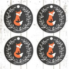 Printable Fox Tags, Chalkboard Tags, Party Favor Tags, Fox Birthday or Baby… Woodland Theme, Woodland Baby, Fox Party, Chalkboard Tags, Twin First Birthday, Fairy Birthday, Tattoo Man, Beard Tattoo, Party Favor Tags