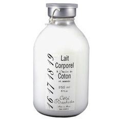 Cote Bastide Cotton and Almond Body Lotion - Contains extracts of cotton oil, rich in vitamin E and proteins. 8 fl oz/250 ml. Made in France.