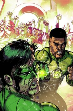 "It's Lantern vs. Lantern as John Stewart battles Hal Jordan for leadership of the Corps. After the devastating events of ""Lights Out,"" John is determined to rebuild the Corps as he sees fit—even if it"