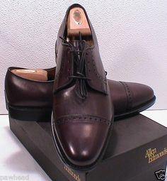 Allen Edmonds Clifton Merlot Burnished Calf Oxford Dress Shoe 8 1 2 D Allen Edmonds, Calves, Oxford, Dress Shoes, Menswear, Dresses, Vestidos, Baby Cows, Men Wear