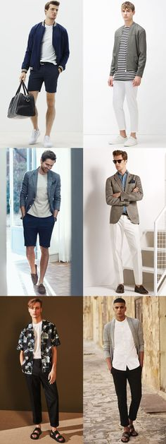 Men's Spring/Summer Layering Fashion and Style Outfit Inspiration Lookbook