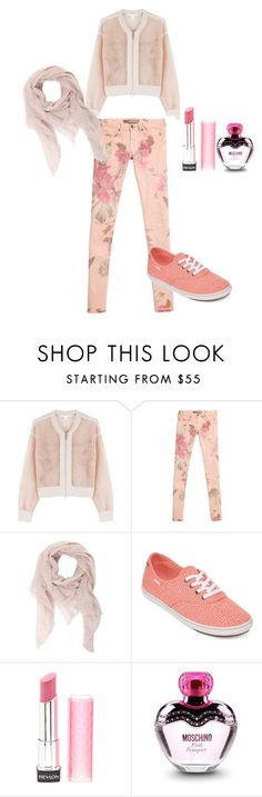 """""""sporty in soft"""" by fauzanadiah ❤ liked on Polyvore featuring Jonathan Simkhai, GUESS, Faliero Sarti, Vans, Revlon, Moschino, women's clothing, women, female and woman"""