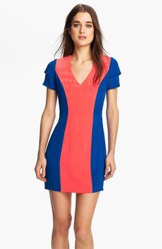 Rebecca Minkoff 'Katya' Colorblock Silk Dress available at #Nordstrom